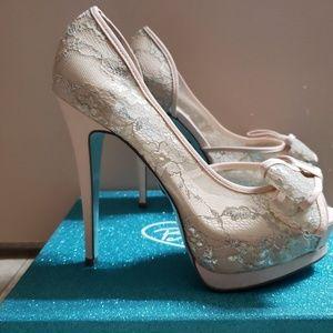 Betsey Johnson Shoes - Betsey Johnson Vail Peep Toe Platform Pump